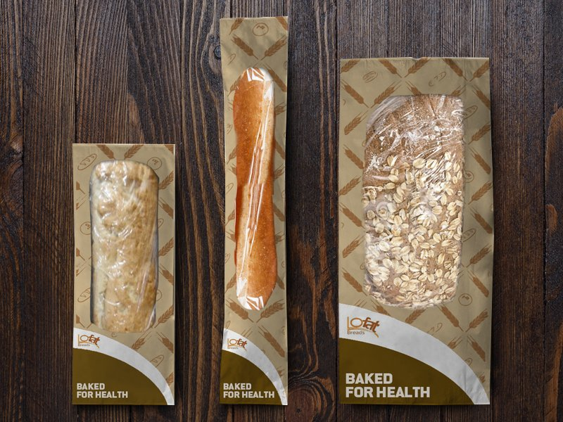 LoFat Bread Packaging