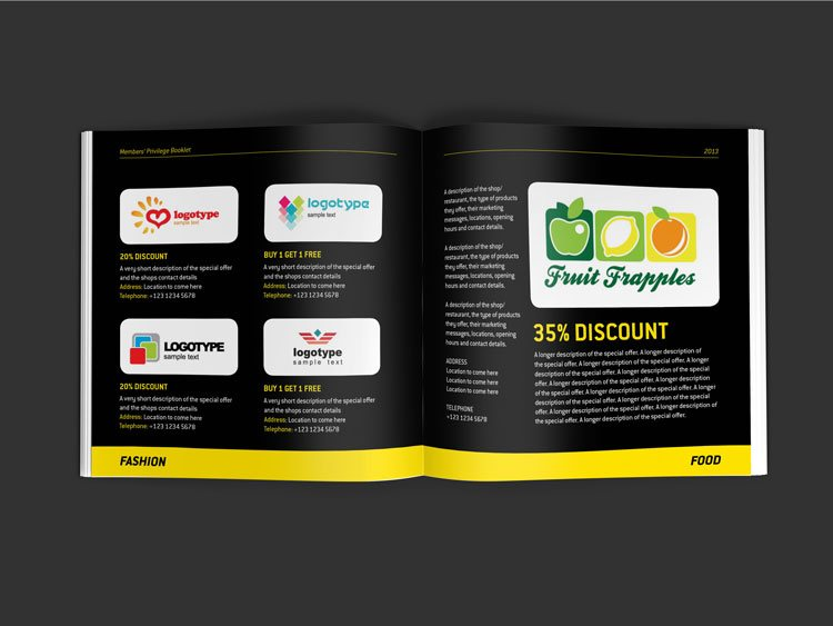 Gold's Gym Privileged Booklet