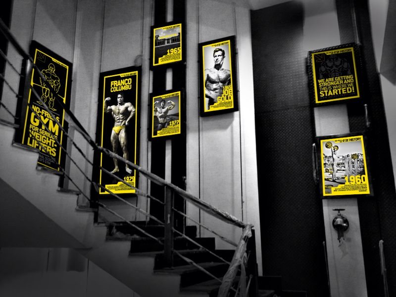 Gold's Gym Poster History